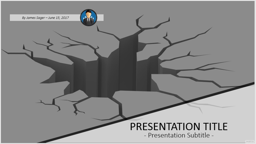 Free cracked ground powerpoint 43736 sagefox powerpoint templates by james sager toneelgroepblik Images