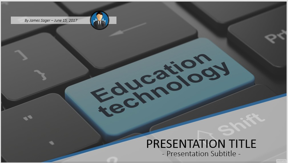 Free education technology powerpoint 44168 sagefox free by james sager toneelgroepblik Images
