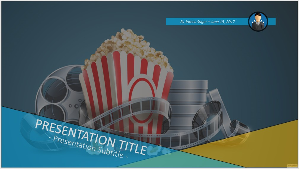 Free movie film reel powerpoint 45327 sagefox powerpoint templates by james sager toneelgroepblik