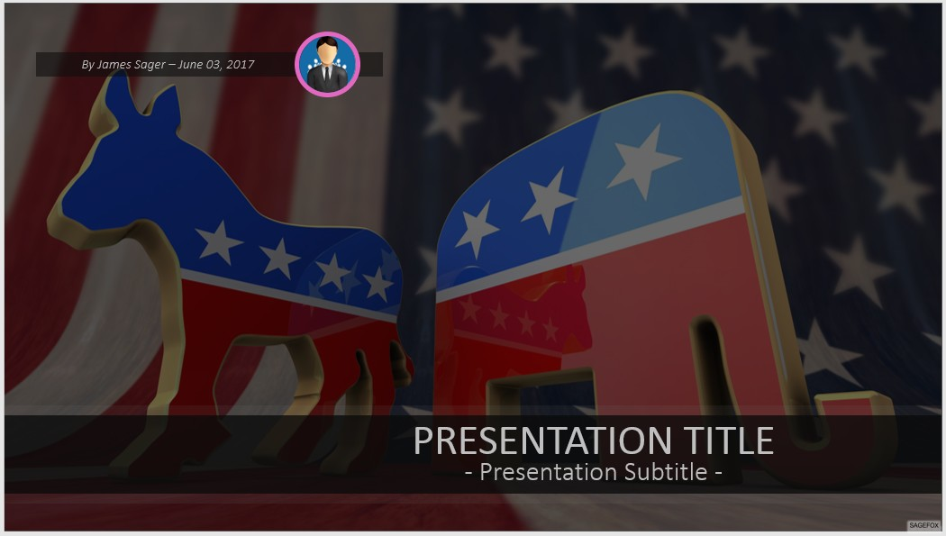 free democrat party and republican party symbol powerpoint 45873