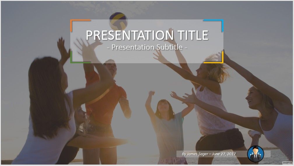 Free volleyball powerpoint 47369 sagefox powerpoint templates by james sager toneelgroepblik Image collections