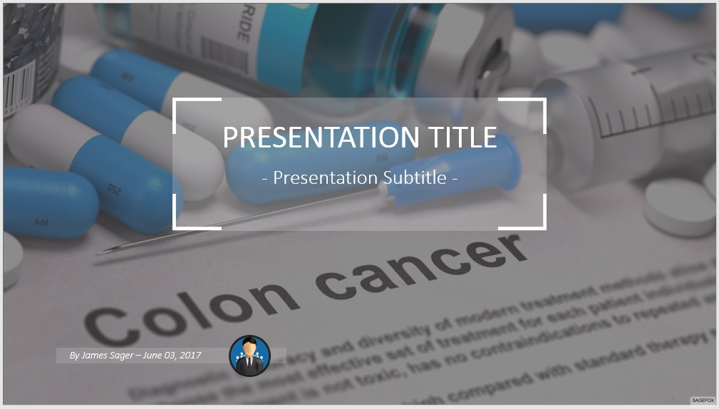 Free colon cancer powerpoint 47444 sagefox free powerpoint templates by james sager toneelgroepblik Gallery