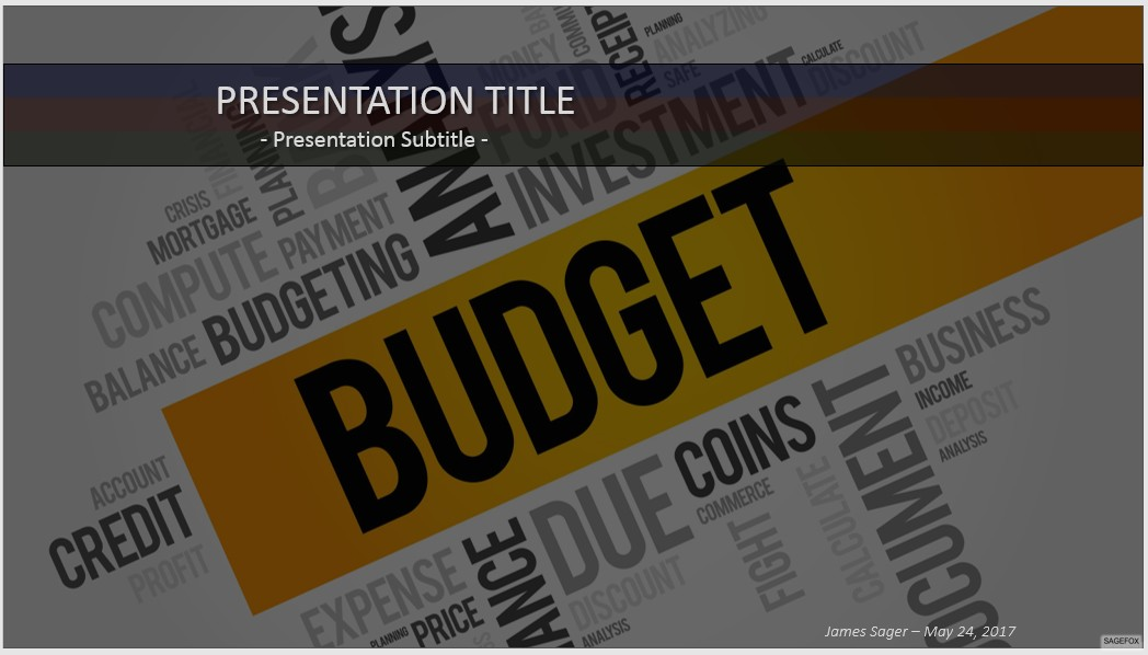 budget powerpoint templates