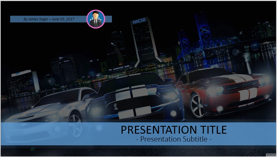Free Muscle Cars Powerpoint 41508 Sagefox Powerpoint Templates