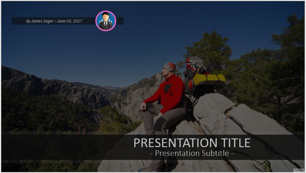 Free hiking powerpoint 41689 sagefox powerpoint templates by james sager toneelgroepblik Images