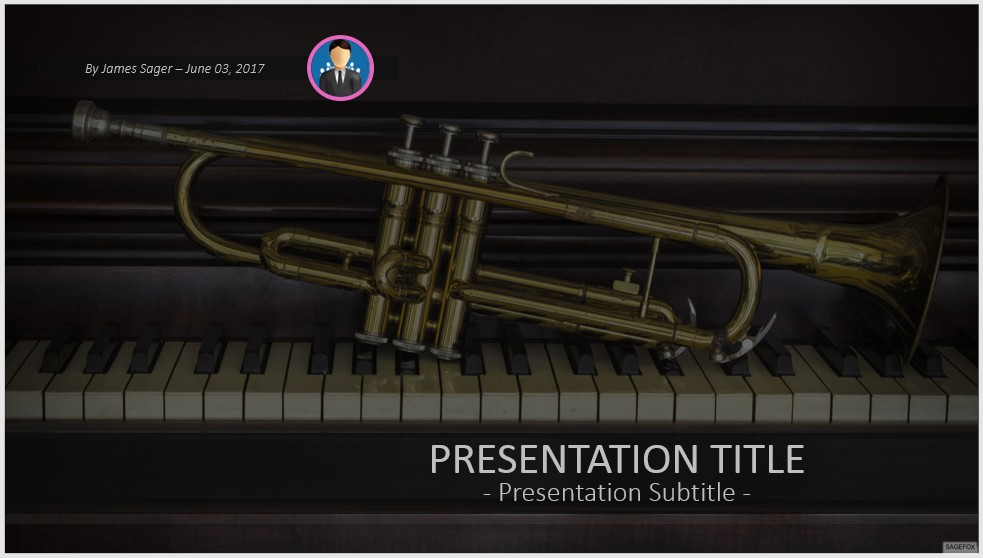 Free trumpet and piano powerpoint 41710 sagefox powerpoint templates by james sager toneelgroepblik Choice Image