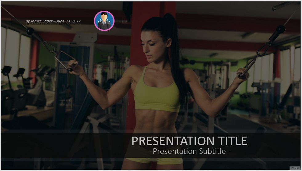 Free Fitness Powerpoint 41868 Sagefox Powerpoint Templates