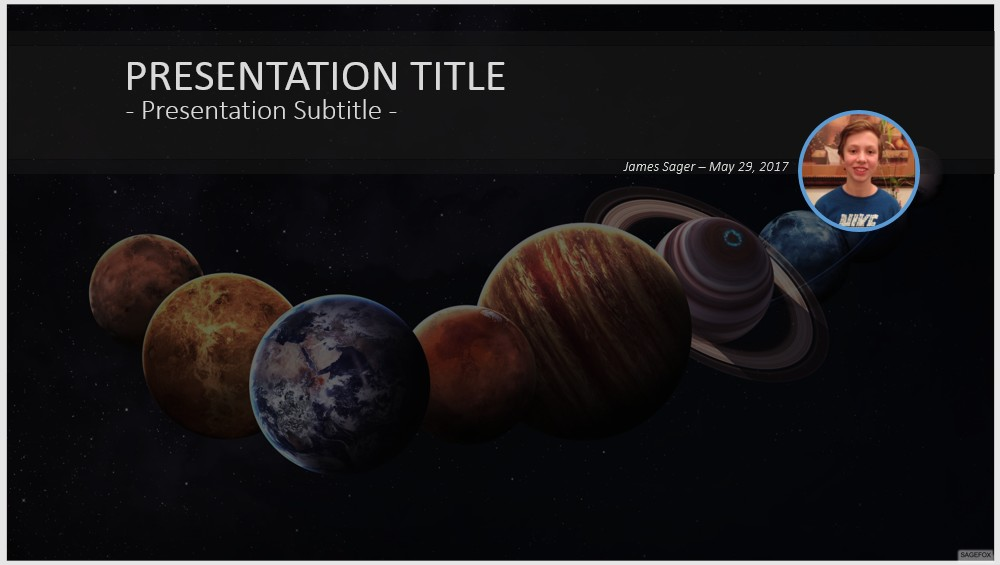 Free solar system planets powerpoint 41785 sagefox powerpoint by james sager toneelgroepblik Image collections