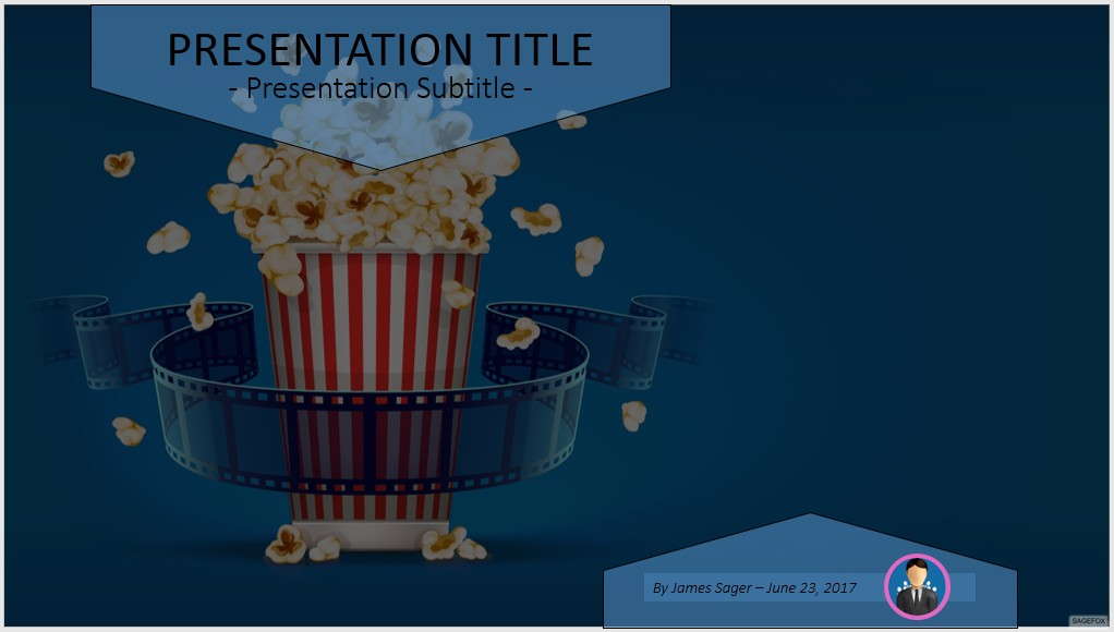 Free cinema and movie film powerpoint 48854 sagefox powerpoint by james sager toneelgroepblik Choice Image