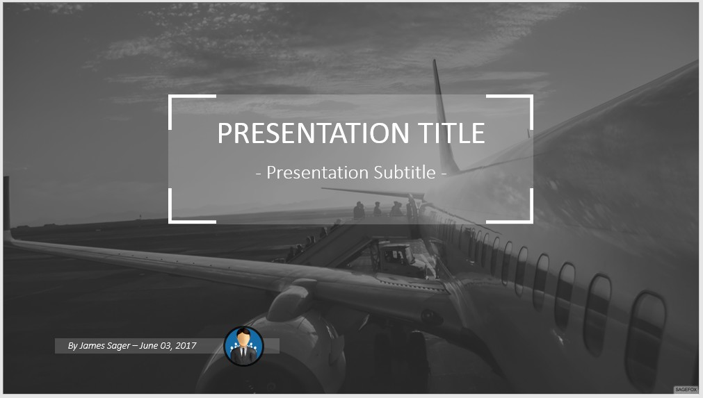 Free airplane powerpoint 47855 sagefox powerpoint templates by james sager toneelgroepblik Choice Image