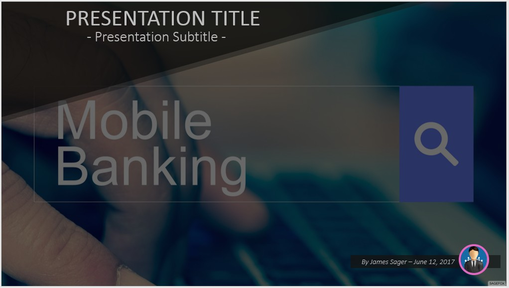 Free mobile banking powerpoint 50825 sagefox powerpoint templates by james sager toneelgroepblik Gallery