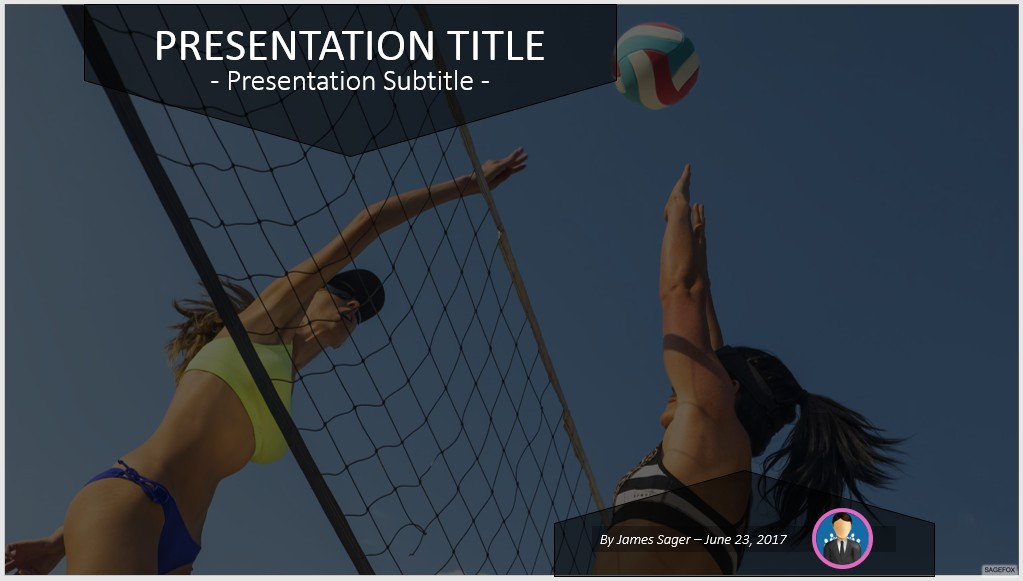 Free volleyball powerpoint 51125 sagefox powerpoint templates by james sager toneelgroepblik Image collections