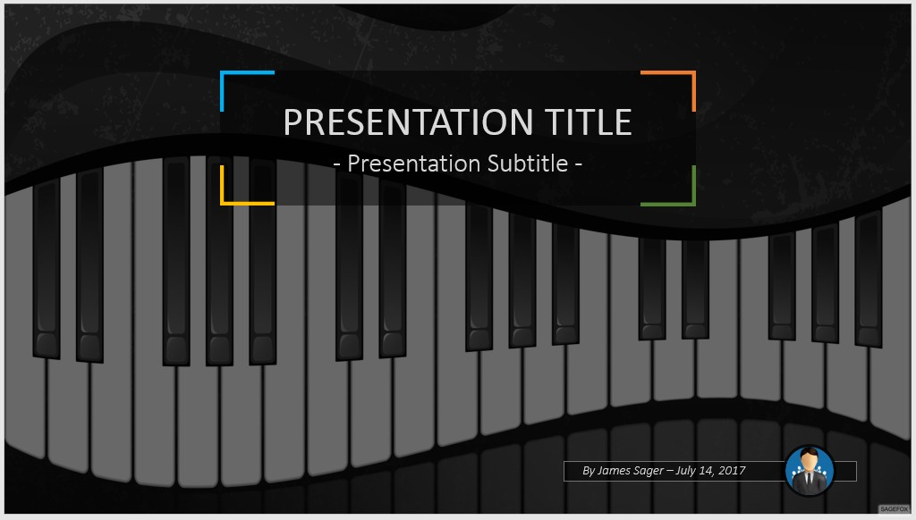 free piano keys powerpoint 51130 sagefox powerpoint templates. Black Bedroom Furniture Sets. Home Design Ideas