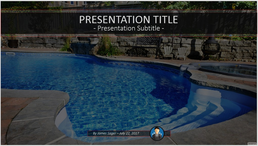 Free Swimming Pool Powerpoint 51170 Sagefox Powerpoint Templates