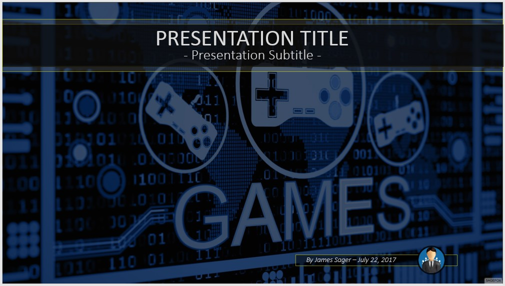 free game controller powerpoint template 9822 sagefox