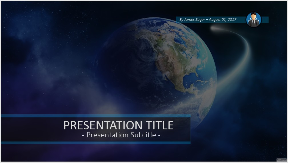 Free Comet Moving Powerpoint 52478 Sagefox Powerpoint Templates