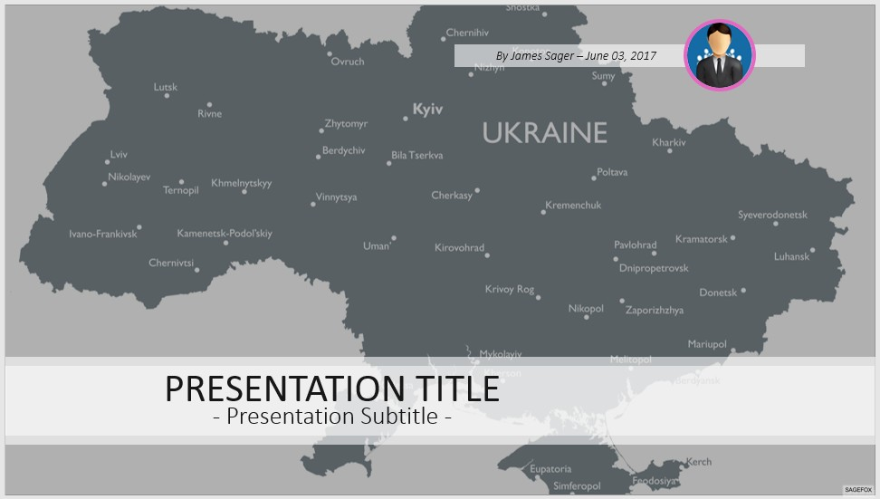 Free ukraine map powerpoint 52905 sagefox powerpoint templates by james sager toneelgroepblik Images