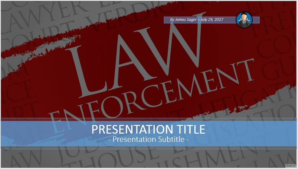 Free law enforcement powerpoint 53110 sagefox powerpoint templates by james sager toneelgroepblik Images