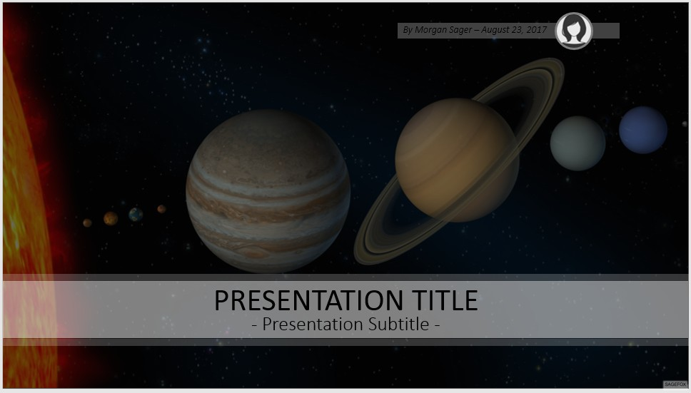 Free solar system powerpoint 56682 sagefox powerpoint templates by james sager toneelgroepblik Image collections