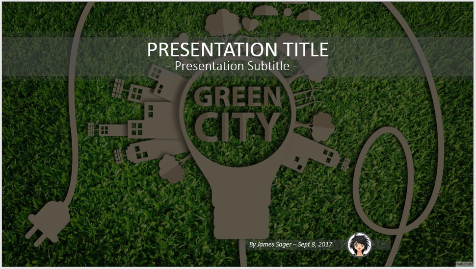 Free green city powerpoint 56537 sagefox powerpoint templates by james sager toneelgroepblik Image collections