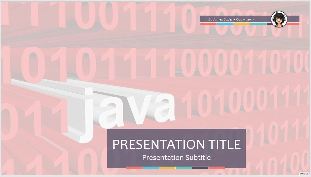 Free binary code java ppt 58781 sagefox free powerpoint templates by james sager toneelgroepblik Gallery
