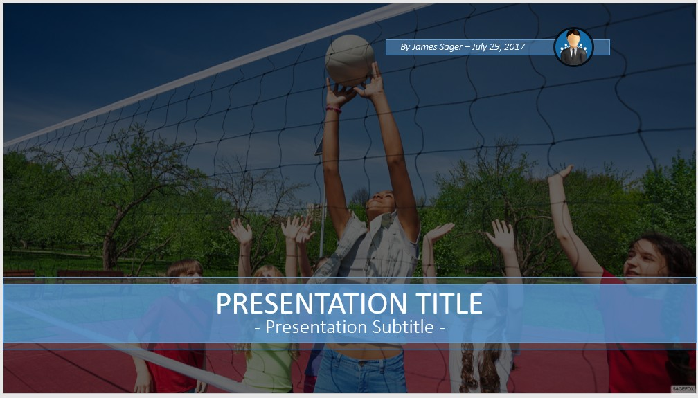Free volleyball powerpoint 59554 sagefox powerpoint templates by james sager toneelgroepblik Gallery
