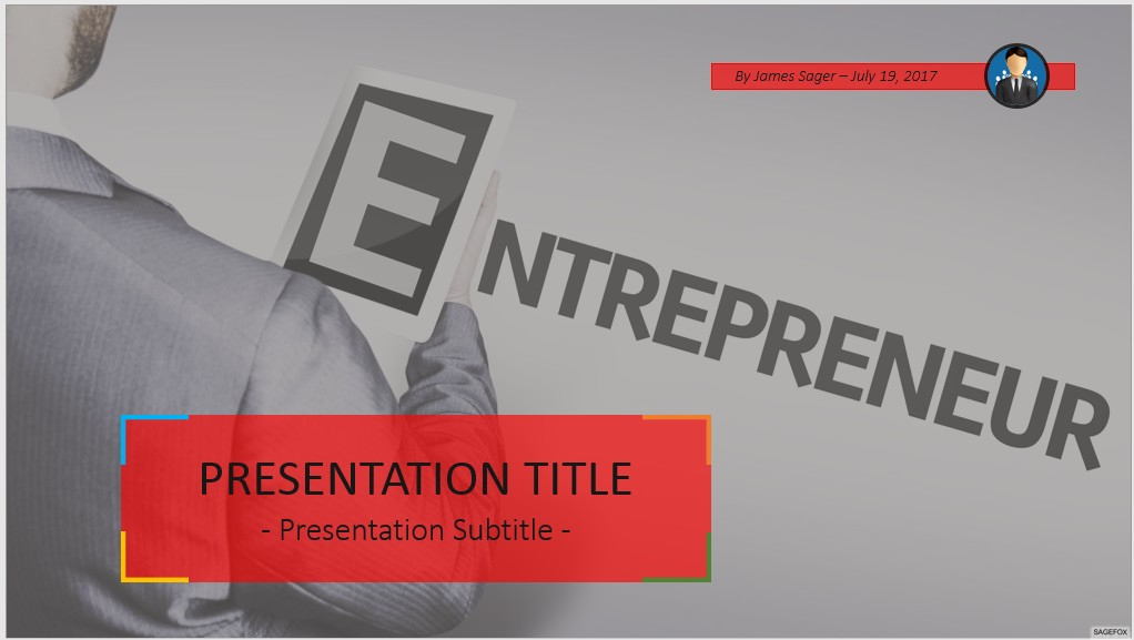 Free entrepreneur powerpoint 59615 sagefox free powerpoint templates by james sager toneelgroepblik Image collections