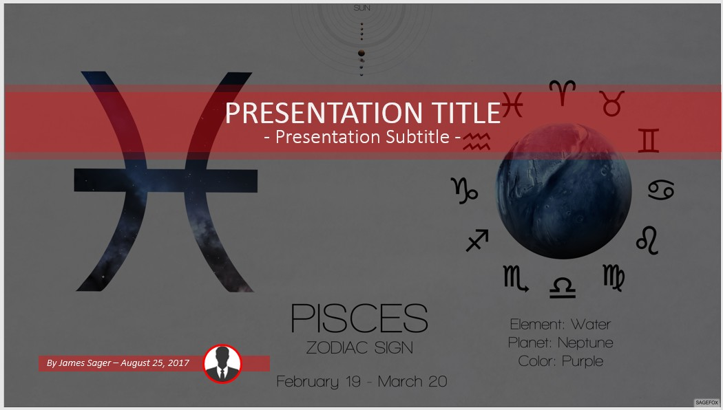 Free pisces powerpoint 59860 sagefox free powerpoint templates by james sager toneelgroepblik Choice Image