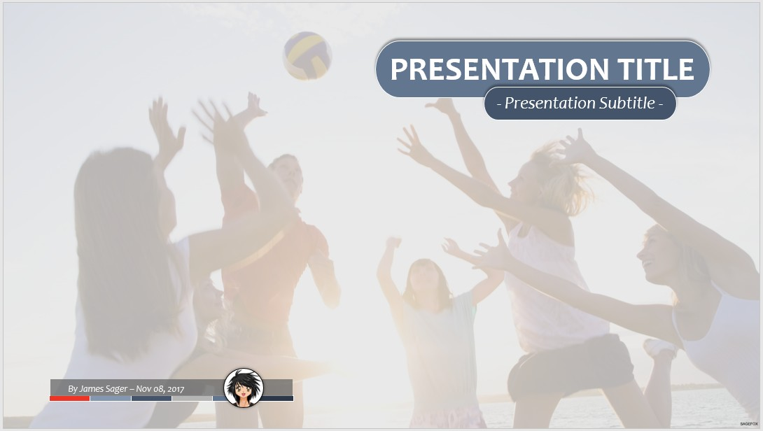 Free volleyball ppt 63332 sagefox powerpoint templates by james sager toneelgroepblik Gallery