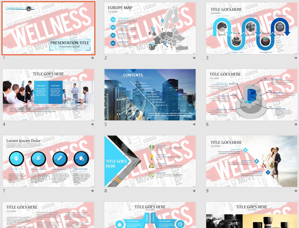 Free wellness ppt 64112 sagefox powerpoint templates by james sager toneelgroepblik Choice Image