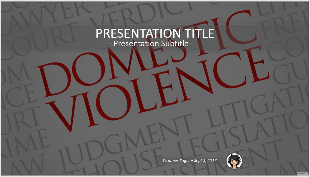 Free domestic violence powerpoint 66551 sagefox powerpoint templates by james sager toneelgroepblik Choice Image