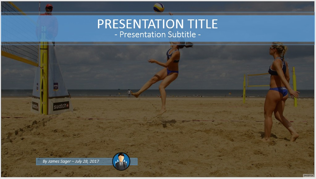 Free beach volleyball powerpoint 61969 sagefox powerpoint templates by james sager toneelgroepblik Gallery