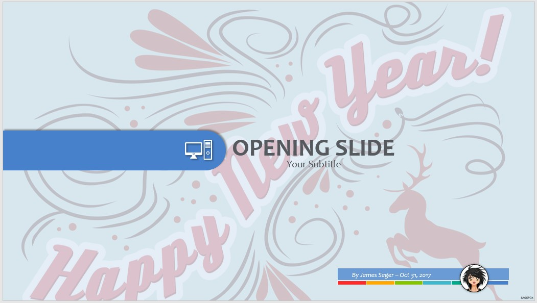 Free happy new year ppt 69741 sagefox free powerpoint templates by james sager toneelgroepblik Gallery