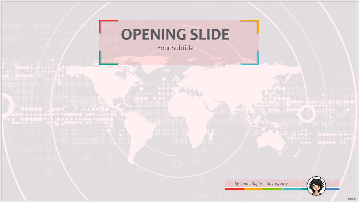 world map for ppt