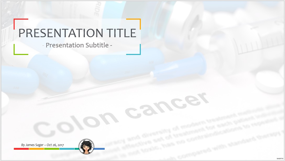 Free colon cancer ppt 71828 sagefox powerpoint templates by james sager toneelgroepblik Image collections