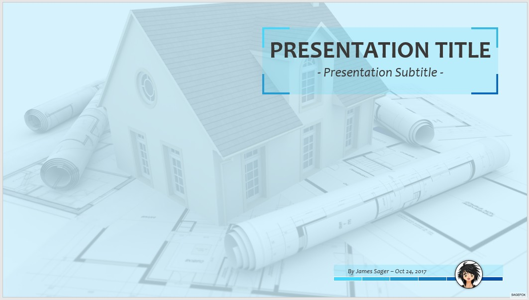 Free architectural drawing powerpoint 57710 sagefox powerpoint house architecture ppt toneelgroepblik Images