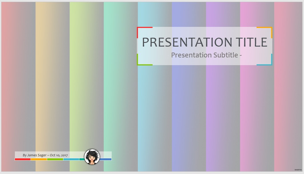 Free Rainbow Colors Ppt 76832 Sagefox Powerpoint Templates