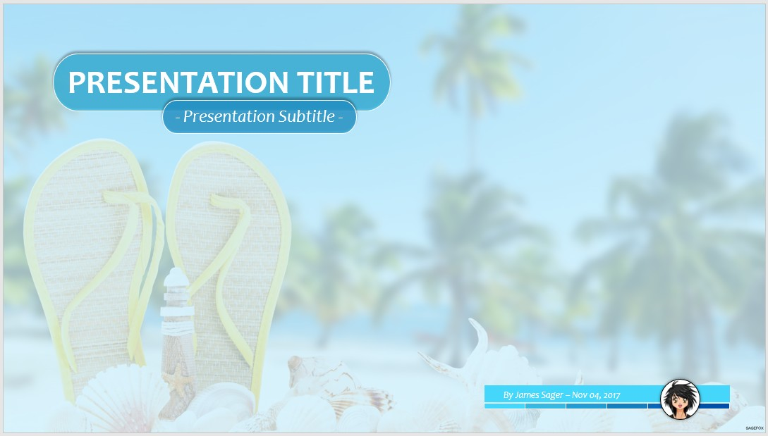 Free Summer Ppt   Sagefox Powerpoint Templates