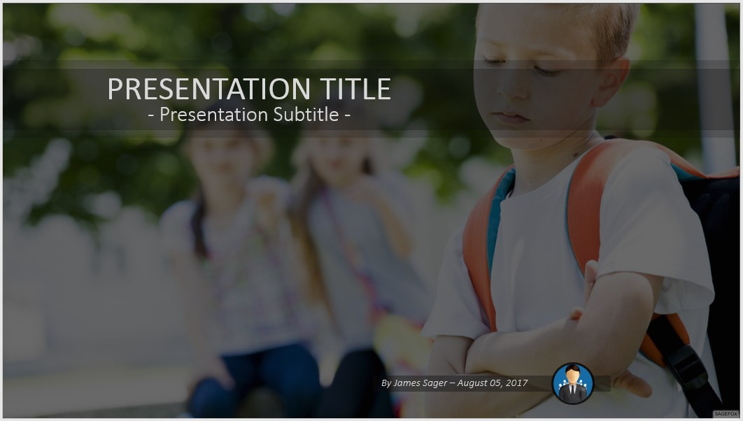 Free school bullying powerpoint 52116 sagefox powerpoint templates bullying powerpoint toneelgroepblik Images