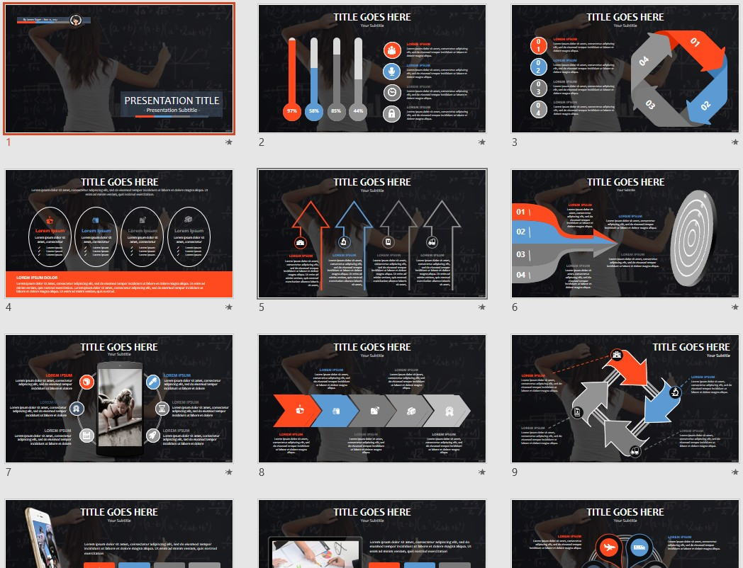 Free Math PowerPoint Template #5057 | SageFox PowerPoint Templates.