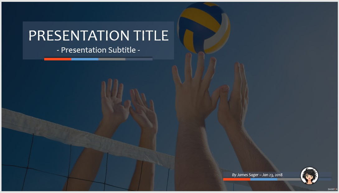 Free volleyball ppt 83703 sagefox powerpoint templates by james sager toneelgroepblik Gallery