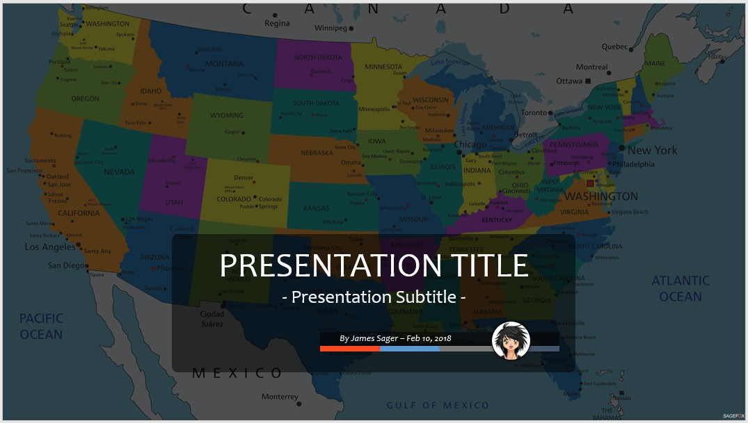 Free Us Map Ppt 84219 Sagefox Powerpoint Templates