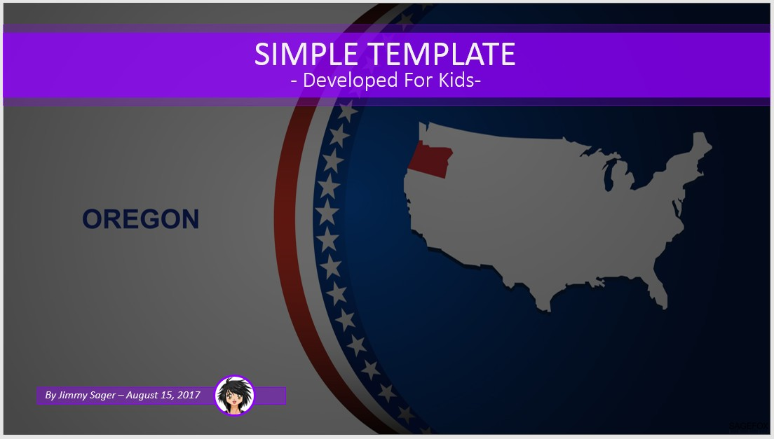 Free simple kids powerpoint oregon 89296 sagefox for Oregon state powerpoint template