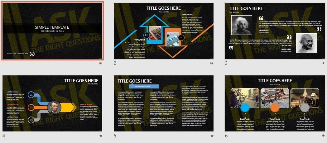 Free simple kids powerpoint ask the right questions 85036 by james sager toneelgroepblik Choice Image
