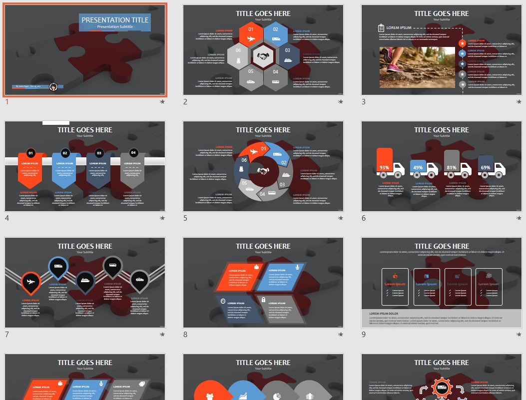 Free Puzzle PowerPoint #86731 | SageFox PowerPoint Templates.