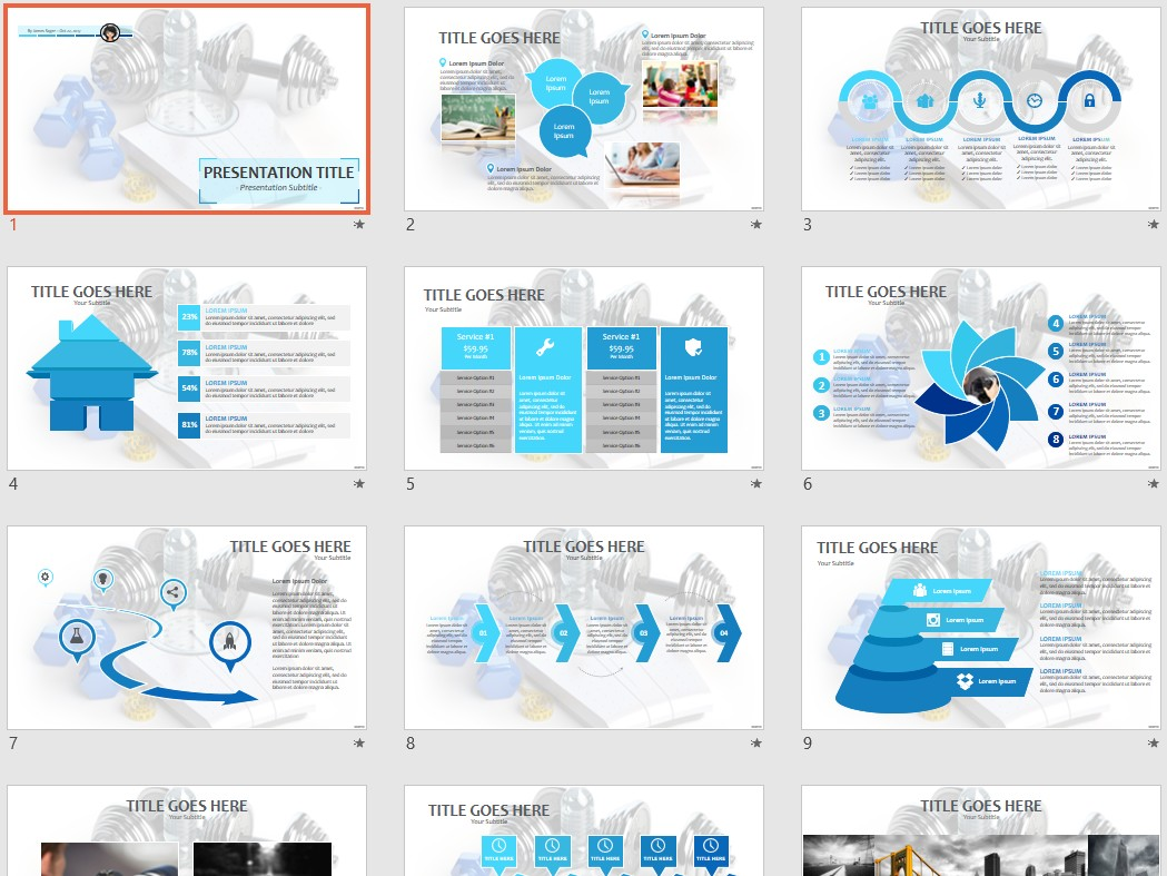 Free fitness and weight loss ppt 87771 sagefox powerpoint templates by james sager toneelgroepblik Choice Image