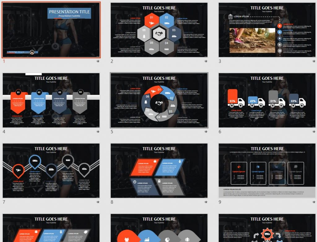 Free fitness ppt 71482 sagefox powerpoint templates by james sager toneelgroepblik Choice Image