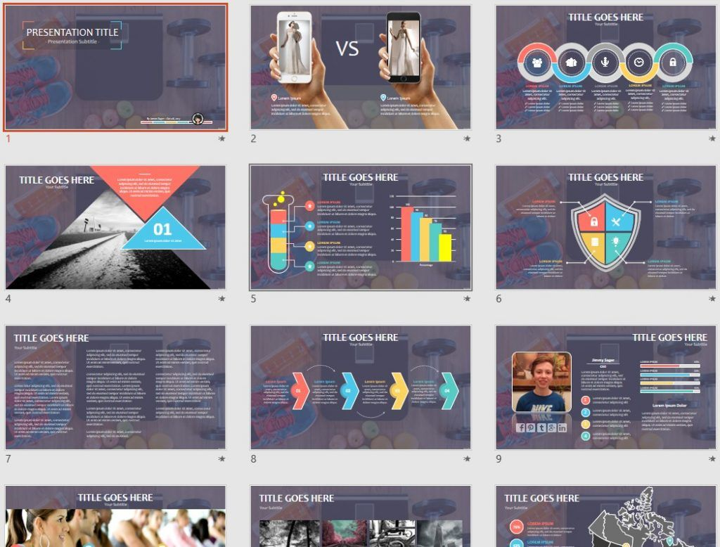 Free fitness ppt 85576 sagefox powerpoint templates by james sager toneelgroepblik Choice Image