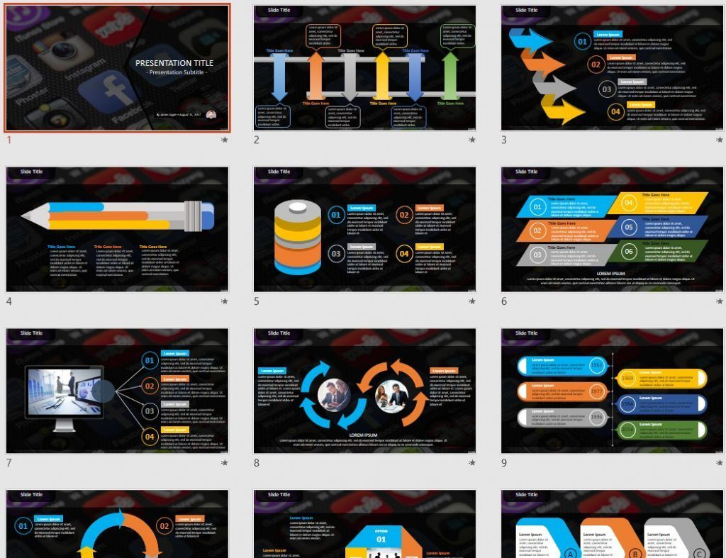Free smartphone apps powerpoint 80024 sagefox powerpoint templates by james sager toneelgroepblik Gallery