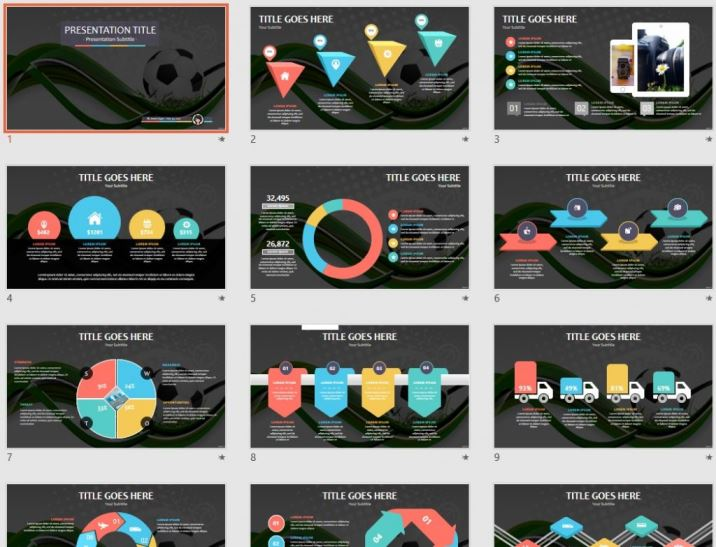 Free Abstract Soccer Ppt 88011 Sagefox Powerpoint Templates